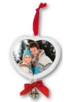 Szív alakú karácsonyfa dísz