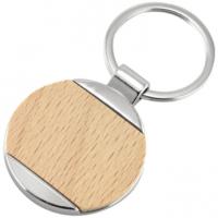 Kulcstartó - Fa mintával (Gravírozás)