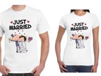 Páros póló - Just married